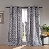 Kelvin Kit Blackout Window Curtain, 38 x 84 Inches, Grey