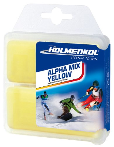 Holmenkol Alphamix amarillo 2x35 gramos esquí cera