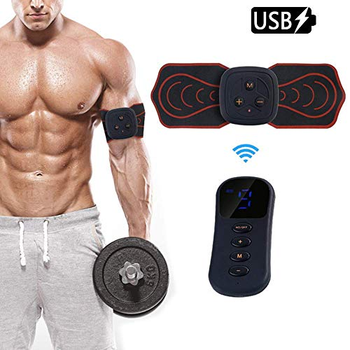 ANKIKI Elektrischer Massagestab wiederaufladbar Mini tragbar Nackenmassagegerät Cervical Stress Relief zum Arm Schulter Zurück -