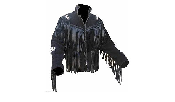 Classyak pour homme de qualité supérieure de cowboy élégante Veste avec  franges en cuir véritable  Amazon.fr  Vêtements et accessoires dfcea677571f