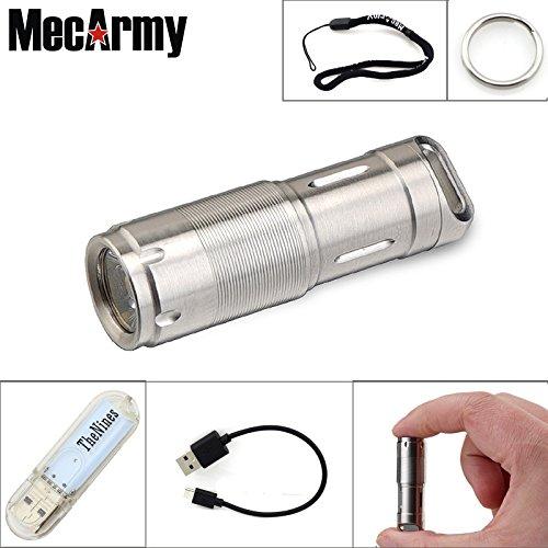 mecarmy Onda N216X2S tragbar mini LED Taschenlampe USB Ladekabel Handheld wiederaufladbar Auto Schlüsselbund Camping Outdoor Wasserdicht Taschenlampe Lampe EDC Taschenlampe, glänzend (Fob-mini)