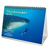 Tauchzauber DIN A5 Tischkalender 2020 Unterwasser und tauchen Geschenk-Set: Zusätzlich 1 Grußkarte...