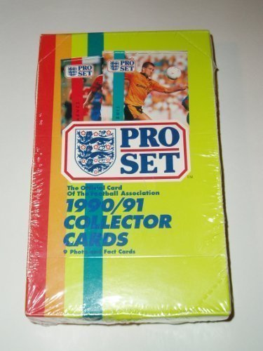 PRO SET 1990-91 OFFICIAL CARD OF THE FOOTBALL ASSOCIATION COLLECTOR CARDS-48 PACKS by ProSet