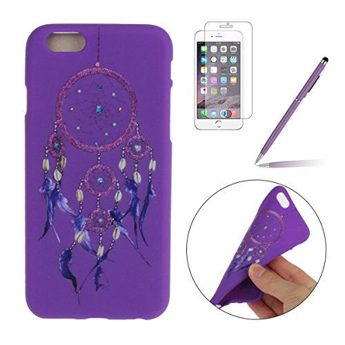 iPhone SE Coque,iPhone 5S Case,iPhone 5 Cover - Felfy Cas Ultra léger Mince Slim Gel Souple Soft Flexible TPU Silicone Fashion Couleurs de Bonbons Etui Couverture de Protection Bumper Anti Rayures Ant Violet Dreamcatcher
