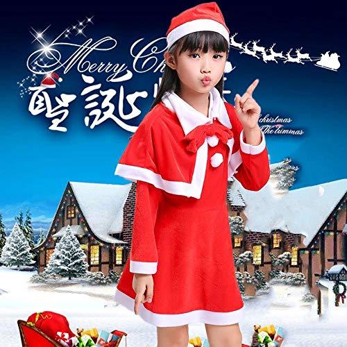 SPFAZJ Santa Anzug Kostüm Kinder Weihnachten Kostüm Elk Mantel Santa Kleid Lange Ärmel Zeigen Jungen und Mädchen Prinzessin Kleid zu ()