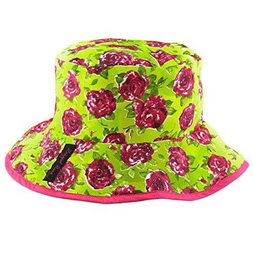 Ragged Rose Sunny Chapeau de jardin Imprimé floral Vert citron/rose
