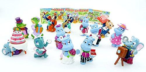 Kinder Überraschung Die Happy Hippo Hochzeit, 14 Figuren (Komplettsätze)