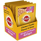 Pedigree Chicken Chunks Flavor in Wet Gravy for Puppies  80g (Pack of 5)
