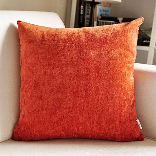 AYQX Einfache Moderne Dicke Wildleder großen Kissen einfarbig Sofakissen Set Büro Bett Kopfkissen großen Rücken Lendenkissen 60X60cm D -