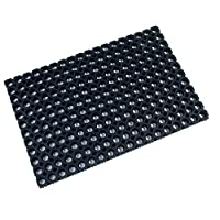 Ultralux Heavy Duty Indoor Outdoor Rubber Drainage Mat - Black