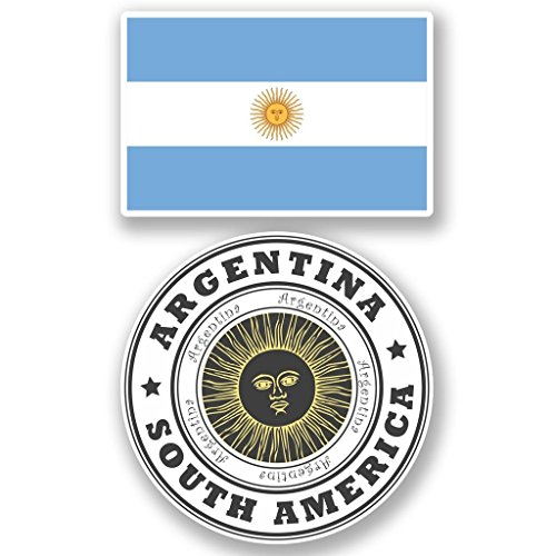 Preisvergleich Produktbild 2x Argentinien Flagge Vinyl Aufkleber Aufkleber Laptop Reise Gepäck Auto Ipad Schild Fun # 4832 - 10cm/100mm Wide