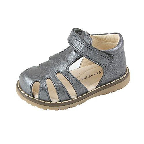 EnFant bébé fille, sandales à scratch, 815086 Argent