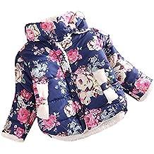 ESHOO niños niñas invierno cálido algodón Floral ropa abrigo para la nieve