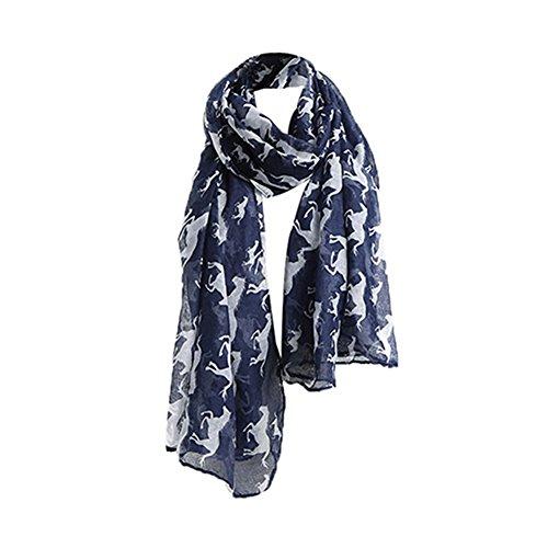 Echarpe Foulard Long Doux Mode Chaud Automne Hiver pour Femmes bleu marine