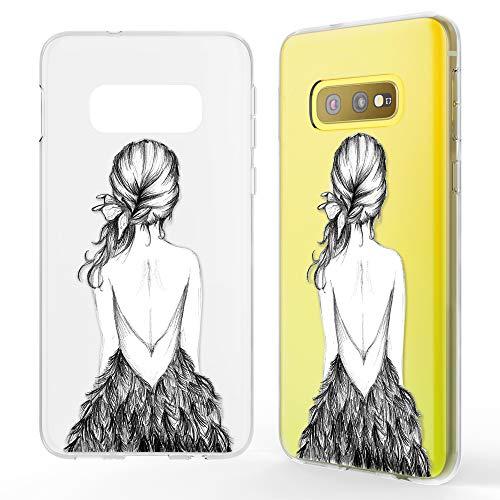 NALIA Hülle kompatibel mit Samsung Galaxy S10e, Motiv Handyhülle Slim Silikon Case Cover Schutzhülle Dünn Durchsichtig, Etui Handy-Tasche Backcover Transparent Bumper, Designs:Bird Princess