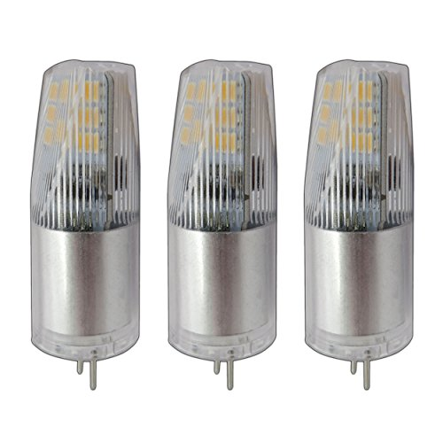 3x G4 LED 3 Watt Optical Prisma 12V AC/DC warmweiß 2800K Modell 2018/2019 Aluminium Lampe Leuchte Leuchtmittel Halogenersatz 3er Pack