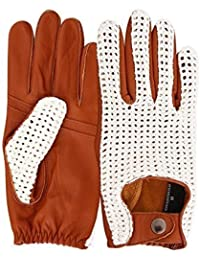 REAL LEATHER CROCHET MEN/'S CLASSIC DRIVING GLOVES D-509