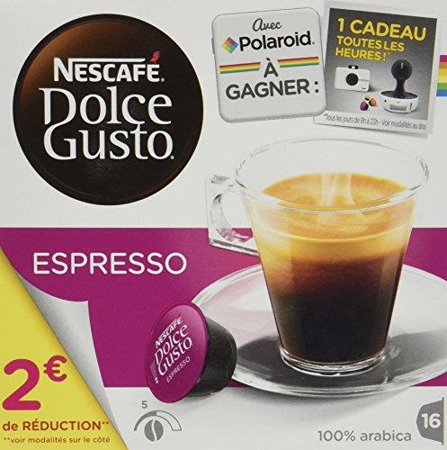 Nescafé Dolce Gusto ESPRESSO - Café - 16 capsules -96g - Lot de 6