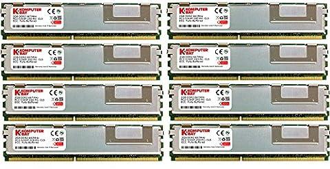 Komputerbay 16 Go DDR2 667 MHz 8X2GB PC2-5300 ECC FB Dual Rank 2Rx8 MÉMOIRE Fully Buffered RAM
