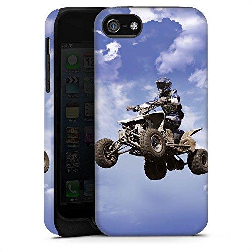 Apple iPhone 4 Housse Outdoor Étui militaire Coque Quad Motocross Sport Cas Tough terne