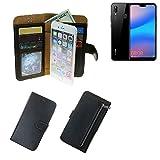 K-S-Trade Für Huawei P20 Lite Schutz Hülle Portemonnaie Case Phone Cover Slim Klapphülle Handytasche Schutzhülle Han