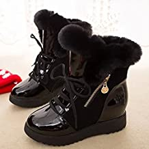 ZEARO Mujer Botas de Invierno Impermeable Plano Botines Calentar Botas de Piel Zapatos
