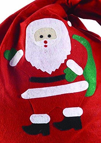 Babbo Natale 90 Cm.Rubie S It00151 Sacco Babbo Natale Panno 60 X 90 Cm