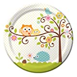 Happi Baum-Babyparty Dinner Plate x 8 [Spielzeug]