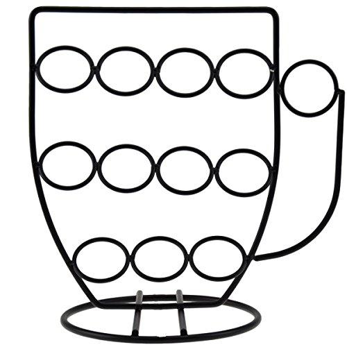 Incidenza paris porta capsule caffè tazza acciaio, acciaio, nero, 17 x 10 x 16,5 cm
