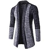 Cárdigan Hombre, Xinan Suéter de otoño invierno para hombres Chaqueta de punto Knitwear Cardigan Sudadera...