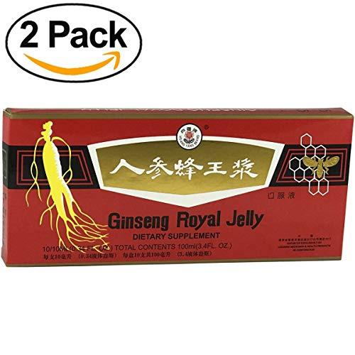 [ Premium Qualität   2 Boxen ] Ginseng & Royal Gelee   Ginseng Royal Jelly   Effektive Ergänzung in Zeiten von Kälte und Müdigkeit   Trinkampullen 10x10ml -