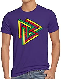 style3 Color Escher T-Shirt Homme The Big Bang Theory Sheldon tbbt
