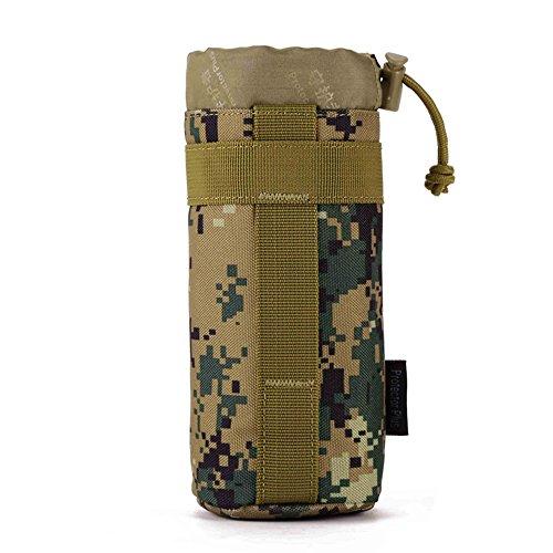 FLYHAWK Outdoor Sport Taktischer Nylon Molle System Trinkflasche Halter Flaschentasche Wasserkocher Tasche A001-Dschungel Digital
