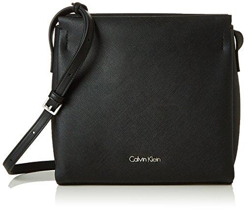 Calvin Klein M4RISSA Flat Crossbody, Sac Femme, Noir (Black), 22 x 7 x 23 cm