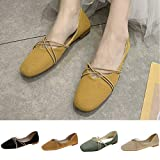 Lailailaily Womens Cross-Tied Flat Square Toe Casual Party Shoes