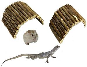 PowerBH Hamster Kleine Tiere Spielzeug Liefert Escape Home Leiter Spielzeug Holzzaun Lernwerkzeug
