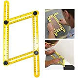 KingShark Multi Winkel Lineal Winkelschablone Vorlagen Measure Werkzeug, Alle Winkelformen Ruler für Schulbedarf Büro