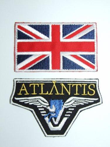OneKool 'Stargate SG-1Team Patch Set Atlantis mit Union Jack Flagge -