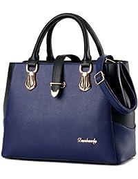 Tibes Damen PU Leder Handtasche mit Schulterriemen