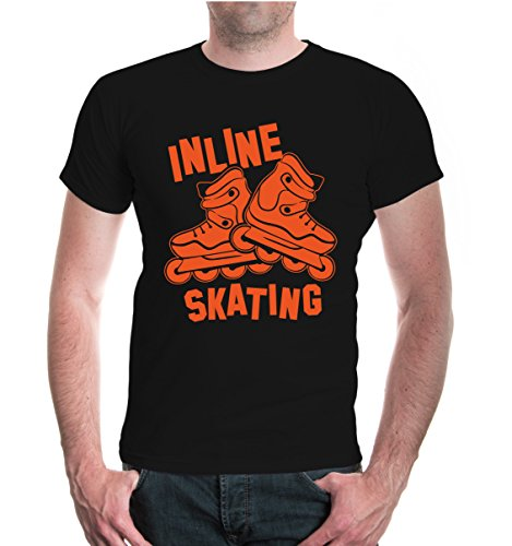 buXsbaum® T-Shirt Inline Skating V2 Black-Orange