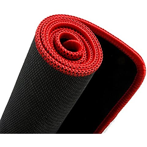 Kupx - Alfombrilla para ratón, edición ampliada, funcional, base de goma antideslizante, borde de color negro (2mm, 59,94 x 29,97 x 0,2 cm)