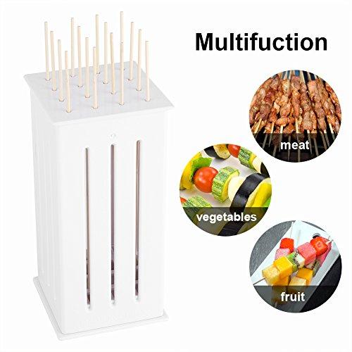 Grill-Grill-Spieße mit 16 Löchern, tragbar, geröstetes Rind, Kebab Maker Box mit einigen Stäbchen, tragbares Grill-Werkzeug