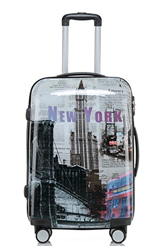 Reisekoffer 2060 Hartschalen Trolley Kofferset in 12 Motiven SET--XL-L--M-- Beutycase (NewYork, 3er Set(XL+L+M)) - 2