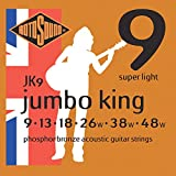 Rotosound JK9 Cordes pour guitare acoustique Bronze Super Light Gauge (9 13 18 26 38 48)
