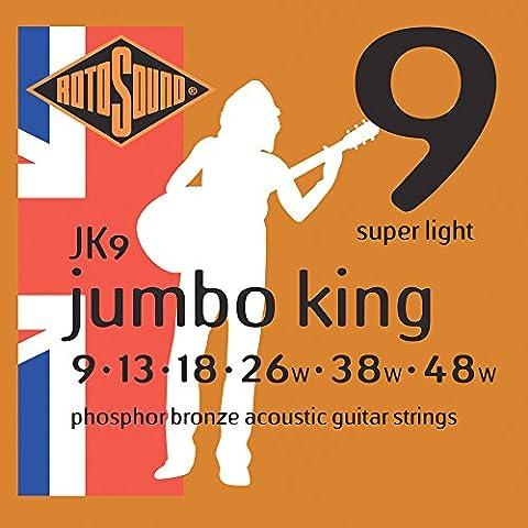 Rotosound Phosphor Bronze Super Light Gauge Acoustic Guitar Strings (