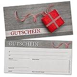 50chèques-cadeaux DIN long, cadeau avec nœud–universel pour de nombreux branchen, format 21x 10,5cm en carton solide de haute qualité...