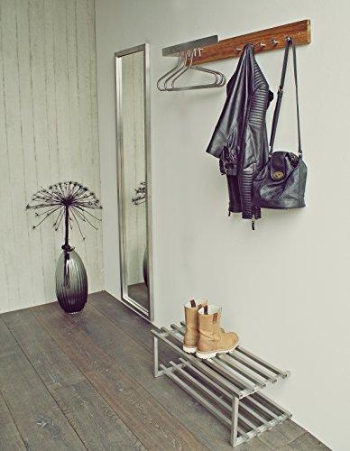 Spinder Design Noa 1 Wandgarderobe / Garderobe - Edelstahl/Eiche