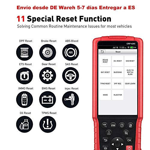 LAUNCH X431 CRP429C OBD2 Scanner ABS SRS ENGINE +