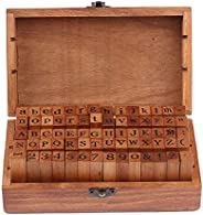 70Pcs Alphabet Stamps Wood Rubber Letter Number And Symbol Stamp Set