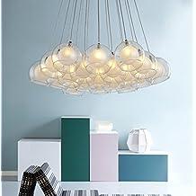 Comedor minimalista moderna lámpara/LEDluces de la habitación/Lámpara de mesa creativa/ arañas de cristal-19-Lights